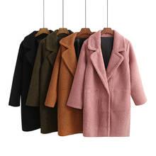 Fashion Winter Jacket Women Thicken Lambs Wool Jacket Long Parka Overcoat Two Sides Wear Parka Women Manteau Femme Hiver C3846