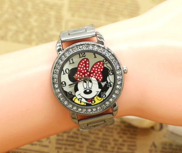 Fashion Casual Lovely Minnie Watches For Kids Women Ladies Cartoon Watches Stude