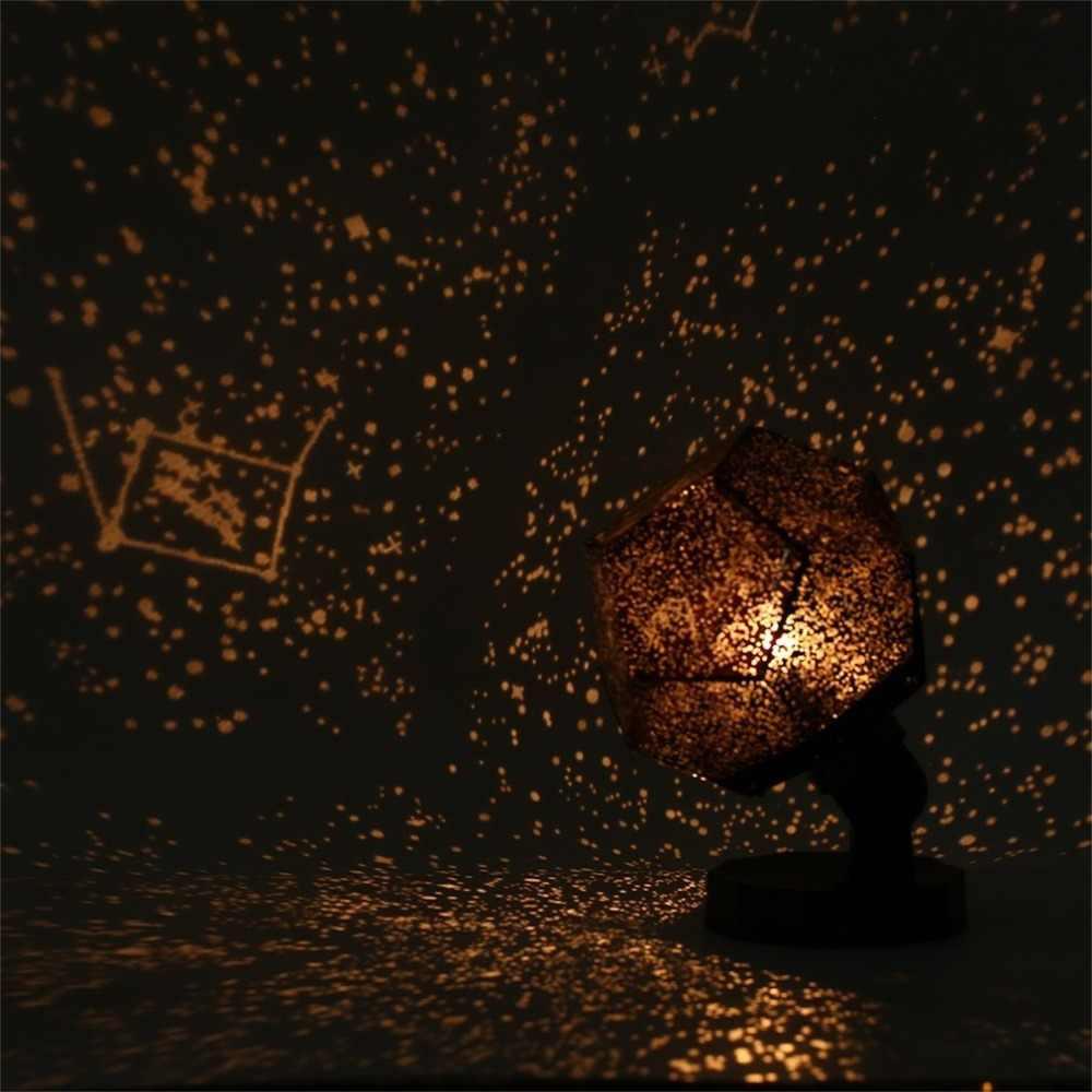 نجمة السماء العارض رومانسية كوزموس ليلة مصباح LED مصباح إسقاط نوم الديكور المحمولة ديكور المنزل هدية الأطفال