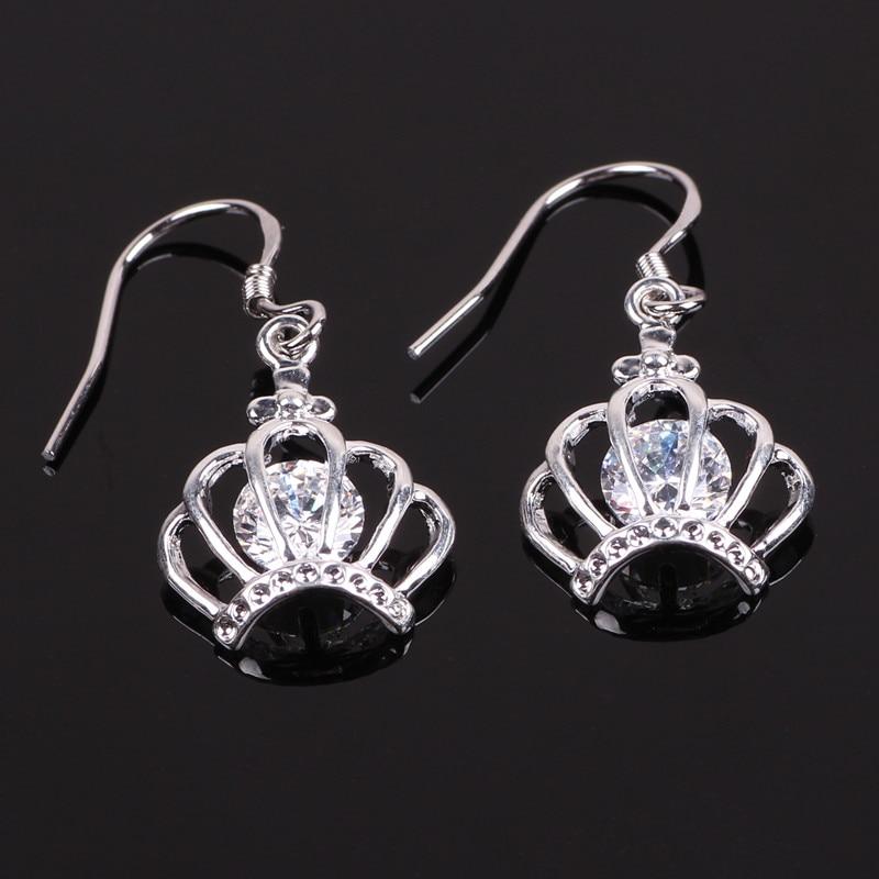 8ff1dd91cc03 Aifeili moda mujeres clásicas venta AAA calidad ZIRCON corona pendientes  plata 925 al por mayor