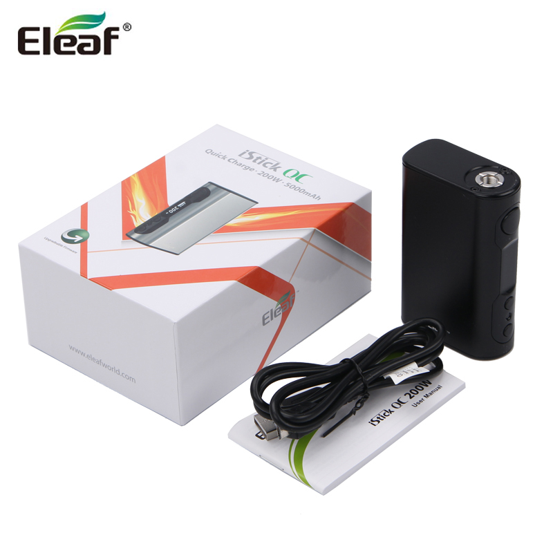 100% Original Eleaf iStick QC 200W BOX Mod Fit For Melo 300 Eleaf Vape 200W Box Mod original pioneer4you ipv d2 box mod