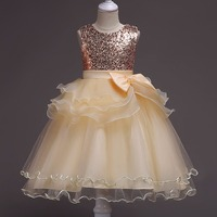 Glitter Girls Ball Gown Dress for Christmas Eve 6 8 10 12 14Y Children New Year Clothes 3Y Baby Girls Birthday Princess Dress