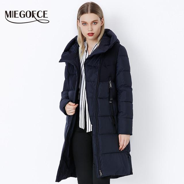 MIEGOFCE 2019 Новая коллеция от дизайнеров пуховик зимний женский ветрозащитный женская парка плотная зимняя куртка пальто для женщин хлопок модный бренд женских пуховиков