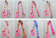 1Pcs cartoon Minnie Lovely Cute Lanyard ID Badge Holder Neck Strap kids gifts(China)