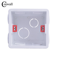 Coswall Adjustable Mounting Box Internal Cassette 86mm*83mm*50mm For 86 Type Switch and Socket White Red Color Wiring Back Box cheap MT-01 86 type mounting box(high strength) Apply to the installation of switches or sockets in the embedded wall 75mm*74mm*48mm