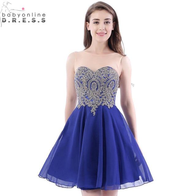 866dbccff29 Vestido Curto Sexy Backless Royal Blue Lace Short Homecoming Dresses 2017  Real Image Chiffon Short 8th