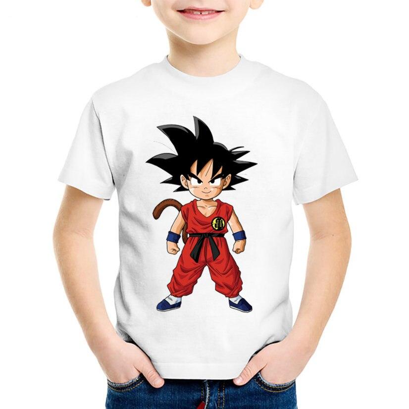 De Impresion De Dibujos Animados De Nino Goku Ninos Camisetas Ninos