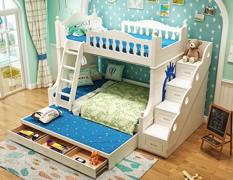 Doppel Etagenbett : Louis mode doppel massivholz etagenbett für kinder in