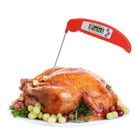 Digital Cooking Food Thermometer Folding LCD Cooking Food Kitchen Probe Thermometer Meat BBQ Tool Black White