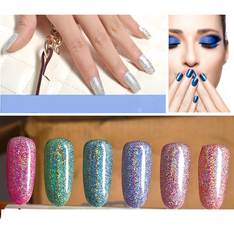 Nail Art Decoration DIY Nails Fake Glitters Dipping Powder Nail Dust Bling Decorations Chrome Powder Pigment Decor Manicure Tool