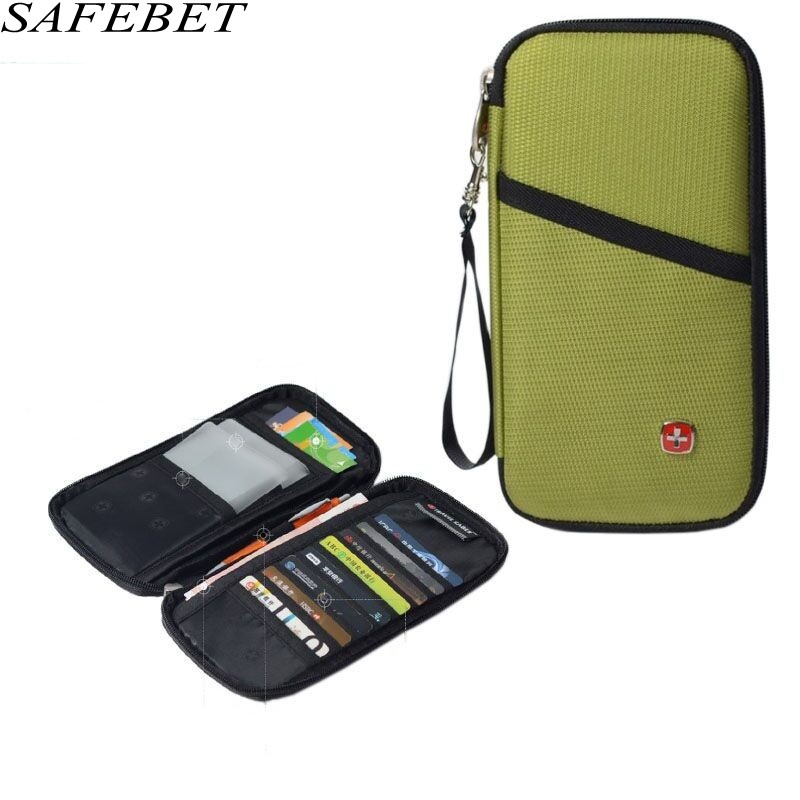 SAFEBET Brand Women Men Travel Trace Excellent Quality ID Passport Holder Credit Card Pack Men's Multi Pockets Document package stainless steel credit card holder faux leather case box id business card holders fashion women s travel passport cover holder