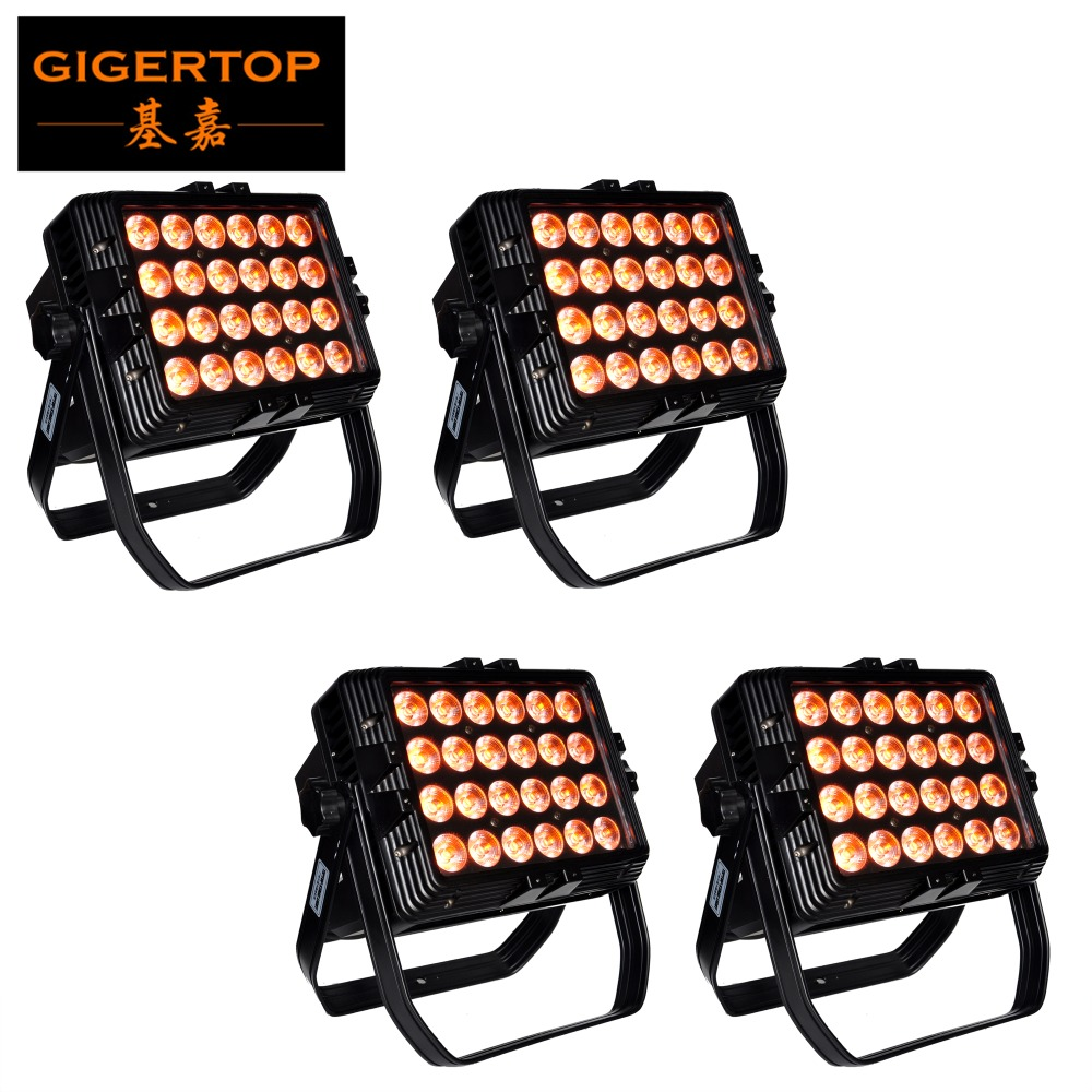 TIPTOP 4 Pack Aluminum Reinforced Glass 24 Led 18W LED Wall Washer Light Ip65 Tyanshine Lamp LED Bar Light Flood Light AC85-265V