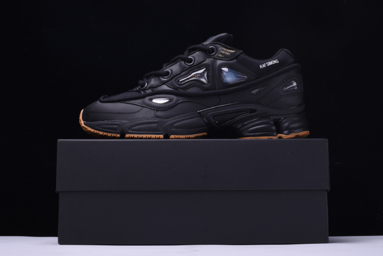 finest selection de5cf d5a4f US $89.1 55% OFF|2018 Release Originals x Raf Simons Ozweego 2 II Bunny  Black Running Shoes Sports Sneakers For Men Authentic S81162 Without Box-in  ...