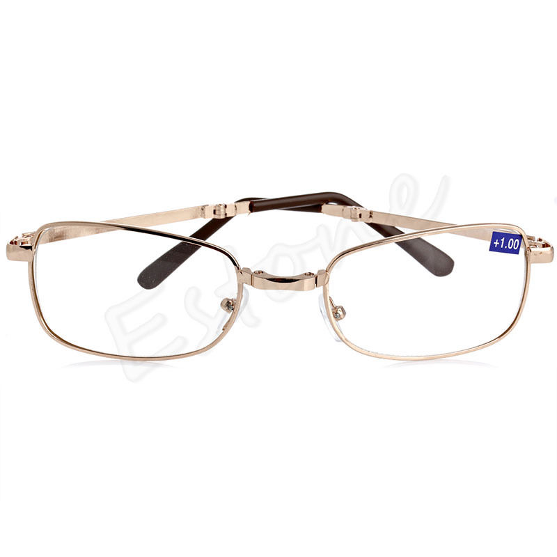 38a3499f43a Women Men 1PC Folding Metal Reading Glasses +1.00 1.50 2.00 2.50 3.00 3.50  4.00 Diopter + Case