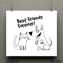 ZhuoAng Best friends forever design stamp / scrapbook rubber craft clear card seamless