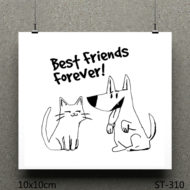 ZhuoAng Best friends forever design stamp / scrapbook rubber stamp / craft clear stamp card / seamless stamp