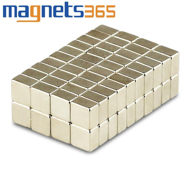 50 pcs Strong Strong Block Magnets 5mm x 5mm x 3mm Rare Earth Neodymium N35 10050044w diy rectangular ndfeb magnets silver 30 x 20 x 5mm 2 pcs