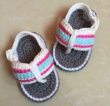 Zapatos de bebé del ganchillo, bebé recién nacido zapatillas, bowknot zapatos de Bebé ocasionales