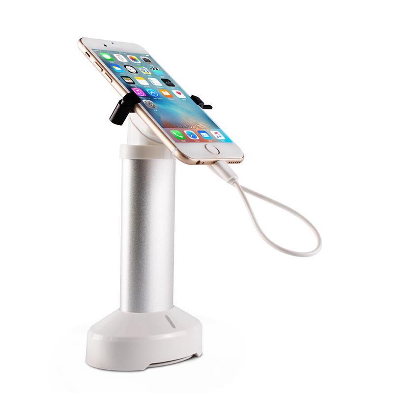 Charging mobile phone anti-theft device phone burglar alarm cell phone security display stand with claw retractable hiden cable cell phone security anti theft display stand with alarm and charging function for mobile phone retail store exhibition 10pcs lot