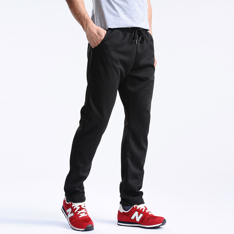 Men Pants Drawstring Flax Pants Straight Full Length Solid Cotton Loose Home Men's Trousers Fashion Pants Pocket Plus Size M-4XL