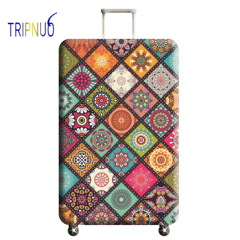 TRIPNUO Suitcase Elastic Protective Cover Luggage Cover Travel Accessories 18 To 32 Inch Travel Trolley Dustproof Suitcase Case