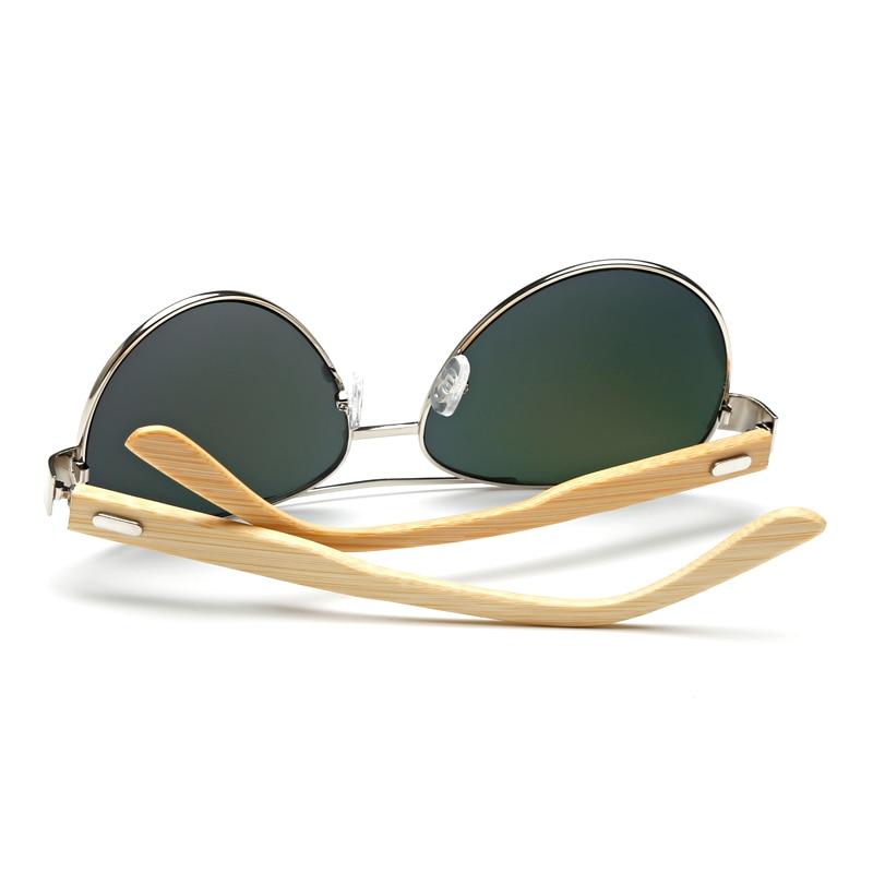 Kacamata bambu percontohan Pria Kayu logam Wanita percontohan Merek - Aksesori pakaian - Foto 2
