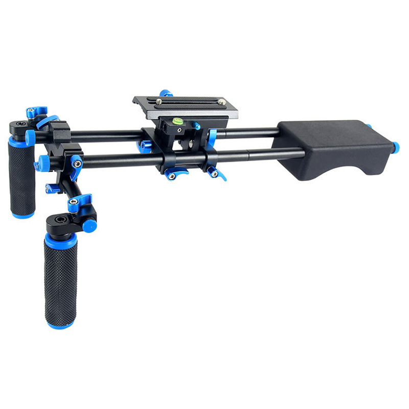 Yelangu D2 Dslr Rig 5D2 5D3 6D 70D D800 tête de montage de caméra système de Support d'épaule vidéo portable Support de fixation de tige 15Mm