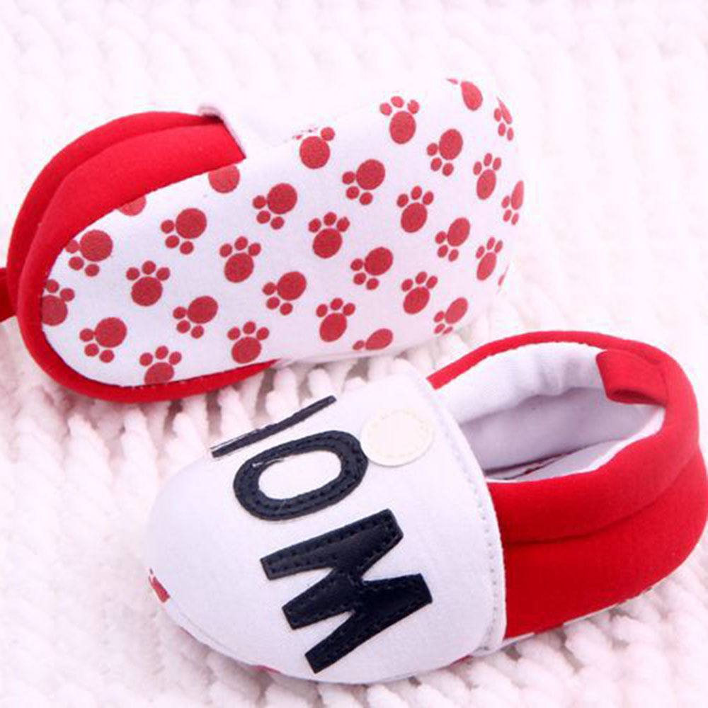 c037cad62bb5 Lovely Toddler First Walkers Baby shoes Round Toe Flats Soft Slippers Shoes  I Love MOM DAD-in First Walkers from Mother   Kids on Aliexpress.com