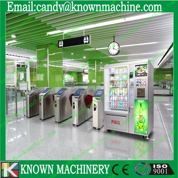 automatic vending machine for drinks and snacks with paper acceptor and coin acceptor Free ship by sea to seaport CFR Price