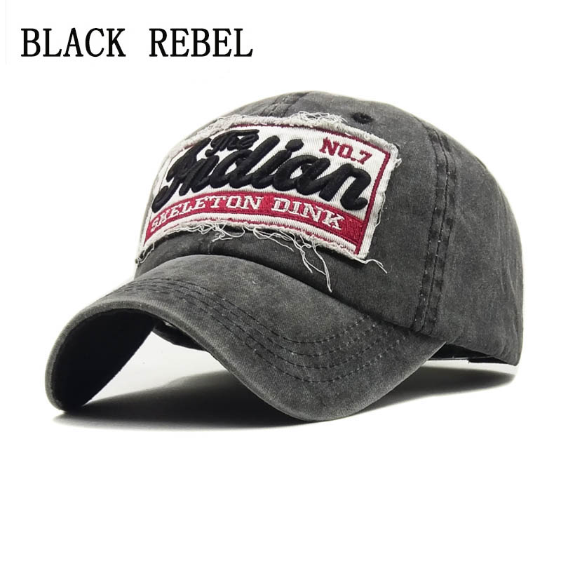 Black Rebel Washed Denim Women Baseball Cap Dad Brand Bone Hats For Men Hip hop Gorras Fashion embroidery Vintage Hat Caps flat baseball cap fitted snapback hats for women summer mesh hip hop caps men brand quick dry dad hat bone trucker gorras