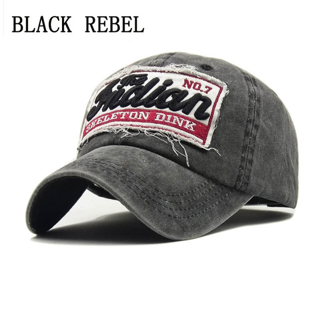 37d442de67e2f0 Black Rebel Washed Denim Women Baseball Cap Dad Brand Bone Hats For Men Hip  hop Gorras Fashion embroidery Vintage Hat Caps