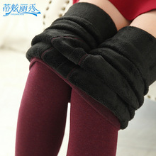 New Arrival Thick Plus Velvet Colorful Cotton Women Pantyhose Winter Warm Step Foot Tights 350 g