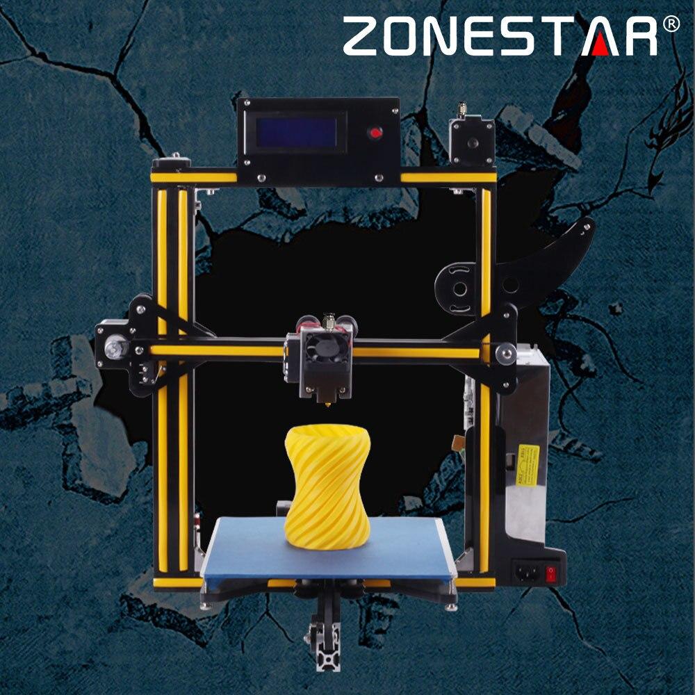 ZONESTAR plein cadre en aluminium en métal en option double ou mixte couleur extrudeuse Auto nivellement Filament Runout détecter 3d imprimante kit de bricolage