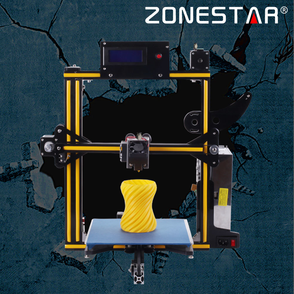 ZONESTAR Full Metal Aluminum Frame Optional Dual Or Mixed Color Extruder Auto Leveling Filament Runout Detect 3d Printer DIY Kit double color m6 3d printer 2017 high quality dual extruder full metal printers 3d with free pla filaments 1set gift