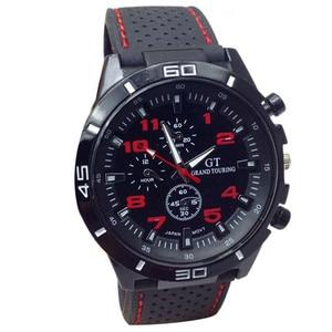 New Brand Gold Mens Watches Top Brand Luxury Silicone Wristwatch Mens Gift Quartz Watch Discount Relogio Masculino #4M20#F(China)