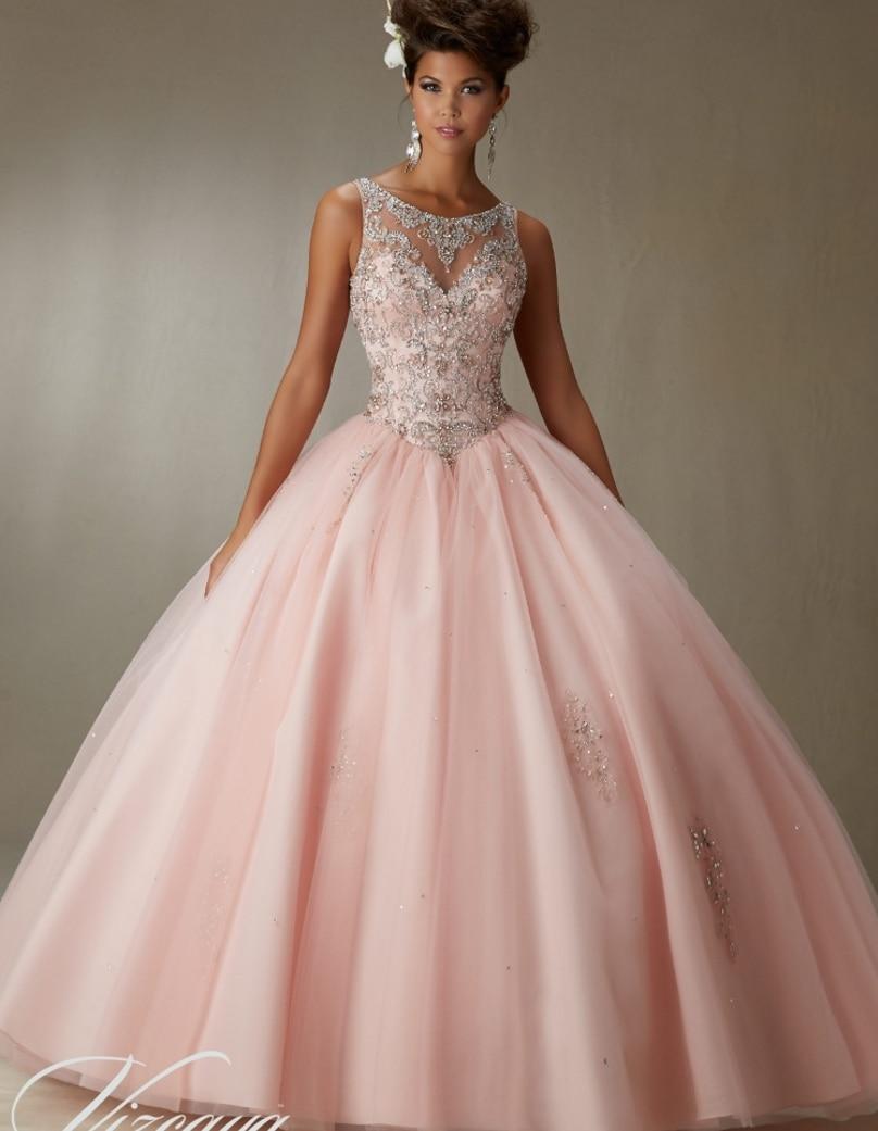 2016 Cheap Quinceanera Gowns Sweet 16 Princess Dresses 15 Light ...