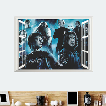 Harry Potter Accessories Wall Stickers Hogwarts Wizarding World School Wallpaper For Kids Room PVC Decor Wall Art Decal