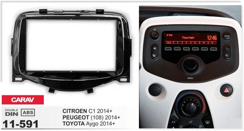 OTOJETA Super Slim android6.0 car multimedia player frame kit for citroen c1 peugeot 108 toyota aygo 2014 2015 tape recorder gps