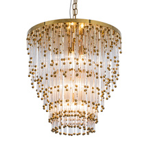 New modern crystal chandelier luxury hotel decoration lamp gold living room LED restaurant