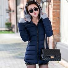 Women hoodie warm coat long parka