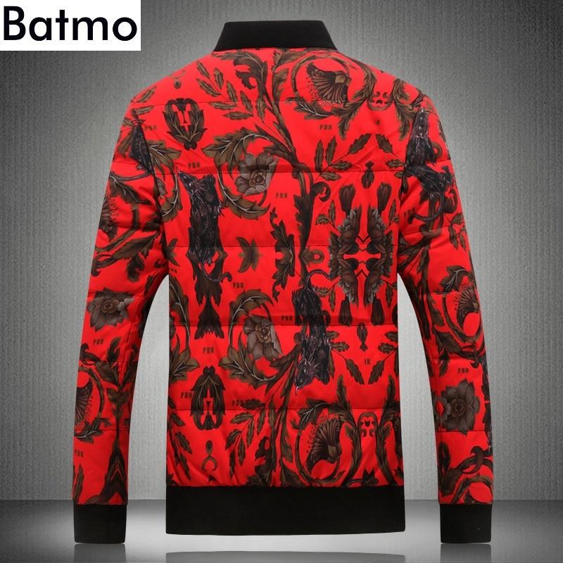 De Plus 2018 Hommes Rouge Vestes Canard Nouvelle Hiver Qualité Chaud Hommes 80 Manteaux Red Haute Y18864 Arrivée Batmo Imprimé taille Blanc D'hiver Duvet H4Fnggq