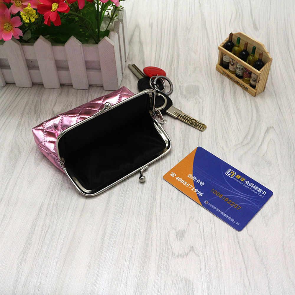 Pequena Bolsa Da Moeda Da Carteira Bolsa de Couro das Mulheres Bolsa Carteira Feminina Carteira Titular do Cartão de Embreagem Mini Saco de Dinheiro Bolsas Das Senhoras
