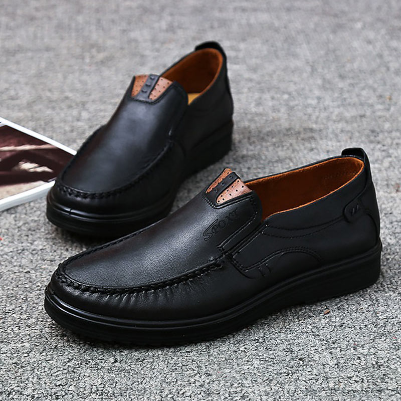 Image 5 - Fashion Men Casual Shoes Flats Autumn Summer Breathable Shoes Men Loafers Slip On Size 38 48 Brown Black Chaussure Homme-in Men's Casual Shoes from Shoes