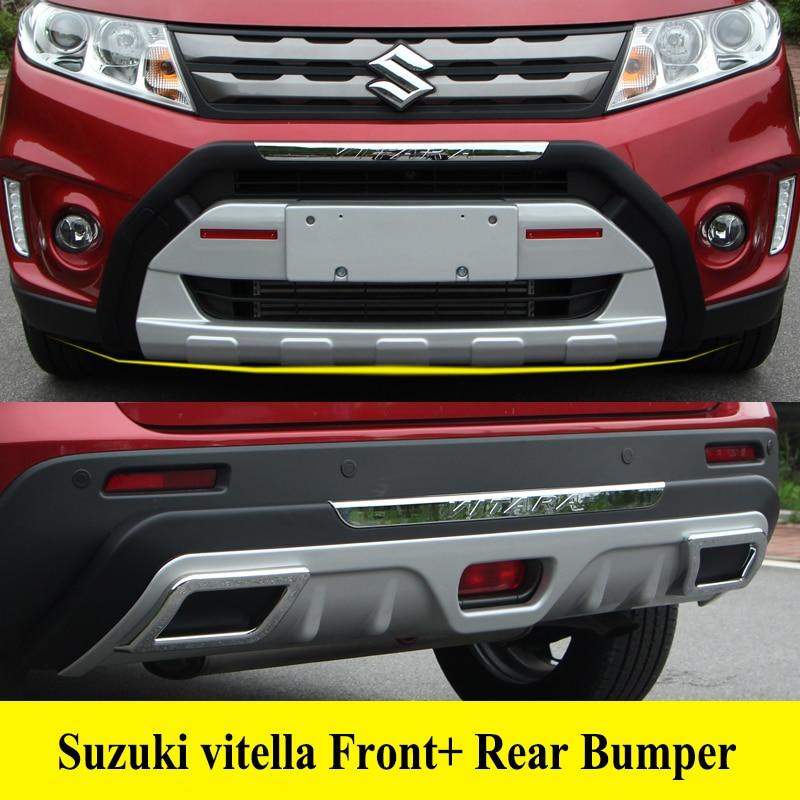 JIOYNG для Suzuki Vitara 2016-2018 спереди + задний бампер диффузор бамперы для губ протектор гвардии опорная плита ABS Chrome отделка 2PES