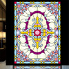 Custom Tiffany Glass Foil European Church Vestibule Ceiling Stained Glass Windows Art Sticker Marriage Room Closet