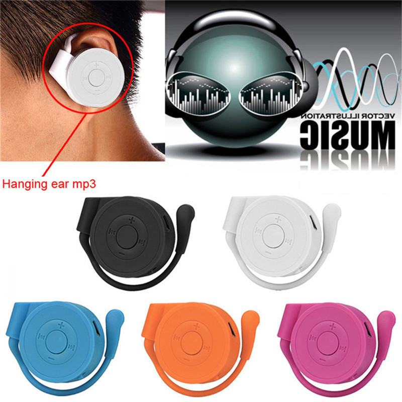 2018 New Arrival Ear Hook Earphone Type Portable Sport MP3 Music Player Support Plug-in Card Fashion Mini Hanging Ear MP3 Player portable media player