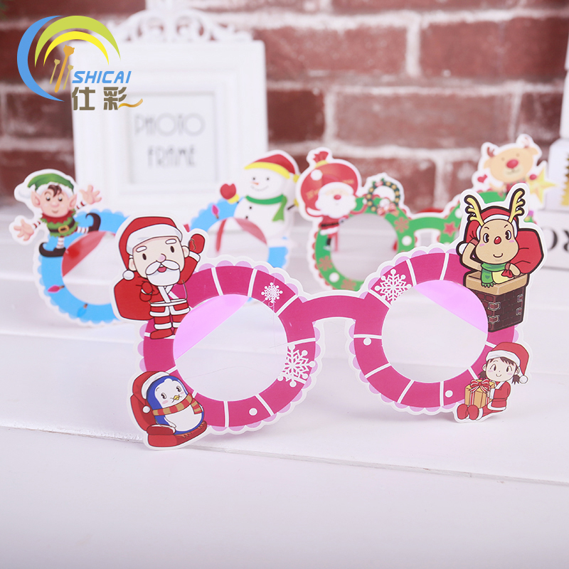 1pcs / Christmas gifts lovely cartoon glasses Childrens eye frame with creative gifts Dress up on Christmas Day Free Shipping
