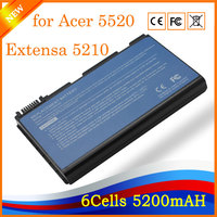 11 1V 5200mAh 6cell Wholesale Laptop Battery For Acer 5520 Extensa 5210 5220 5620Z 5630 Series