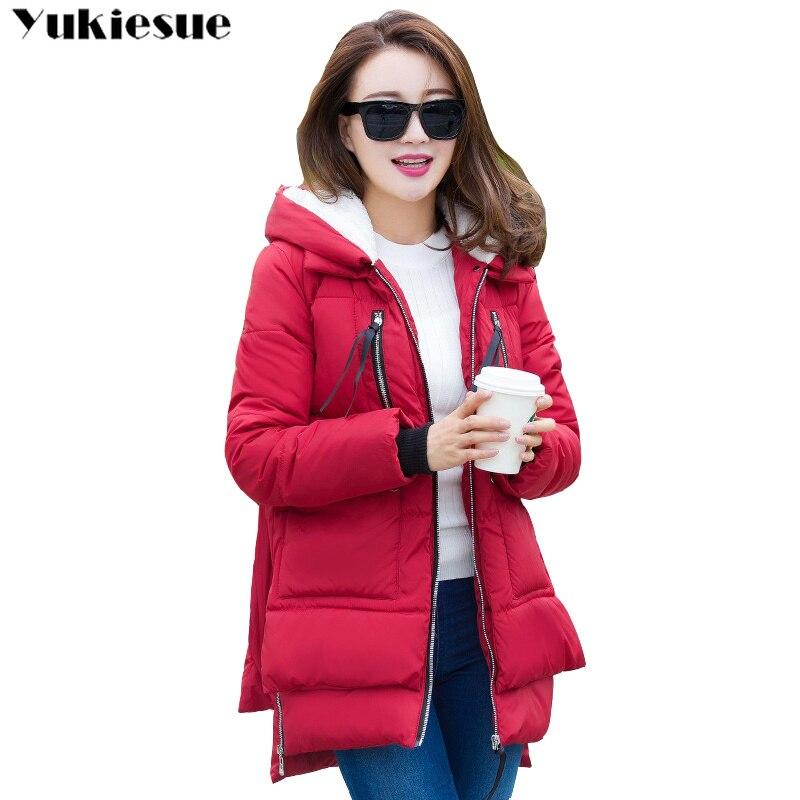 Winter Jacket Women 2018 New thick Long Outwear for Women Winter cotton down jacket Female Warm Winter Coat Women hooded   Parkas