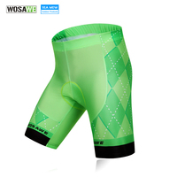 WOSAWE Women Cycling Shorts 4D Silicone Gel Padded MTB Mountain Bike Bicycle Shorts Underwear Breathable Bermuda